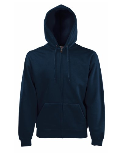 Fruit of the Loom Herren Kapuzenpullover Blau Deep Navy Large (Navy-blau Stickerei Hoodie)