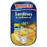 Princes Sardines à l'huile de tournesol 12 x 120g
