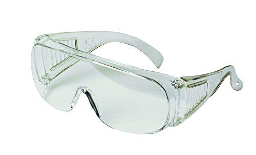3M VisitorC Schutzbrille für Brillenträger, leichte Elektrowerkzeugarbeiten, Schutz gegen Splitter, 99.9{181bd5d751fdba8624d0868c505501520b50eeff0c7f475a31c26e440ac7f192} UV-Schutz, klare Polycarbonatscheiben