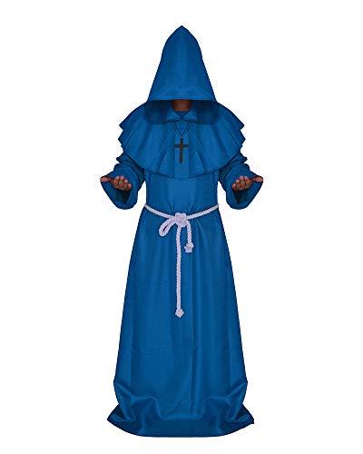 Viktorianischen Priester Für Erwachsene Herren Kostüm - Männer Halloween Mönche Robe Nonnen Pastor