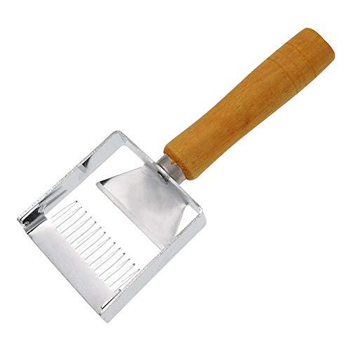 miss-an Edelstahl Honigschleudern Werkzeuge, fur Bienenhaltung der Gabel-Holzgriff-Honig-Schaber-Imkerei-Werkzeug-Ausrüstung-Imkereibedarf-Verschachtelung Honigschleudern  Werkzeuge  Zubehör