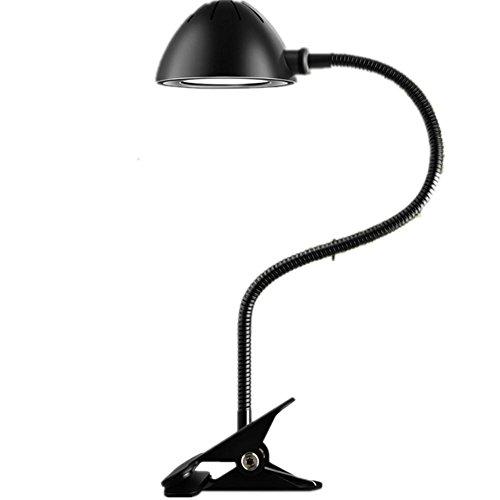 HHORD Einfache Metall LED Auge Schutz Schreibtischlampe zu erlernen zu lesen-Clip Lampe Hostel Schmiedeeisen Bett Lampe Baldachin Schutz Uhr