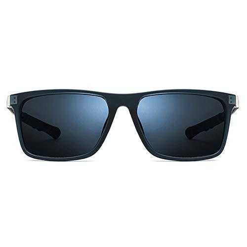WULE-Sunglasses Unisex Männliche teleskopische hängende Hals quadratische Brille weibliche Blaue Linse UV400-Schutz Ultraleicht TR90 Sport-Sonnenbrille (Farbe : Blue)