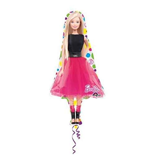 anagram balón de papel de aluminio minishape Barbie sparkle-si hincha de aire, Multicolor, 7a3065602