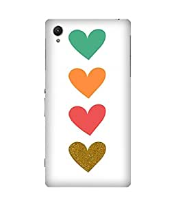 Bih Hearts Printed Back Cover Case For Sony Xperia Z1