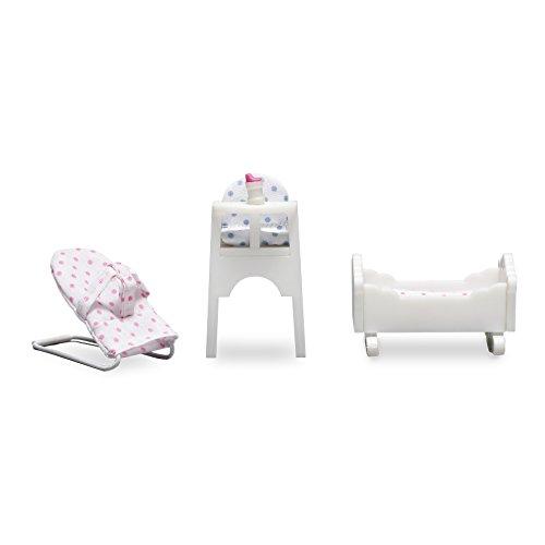 Lundby 60.2086.00 - Babymöbel, Minipuppen mit Zubehör