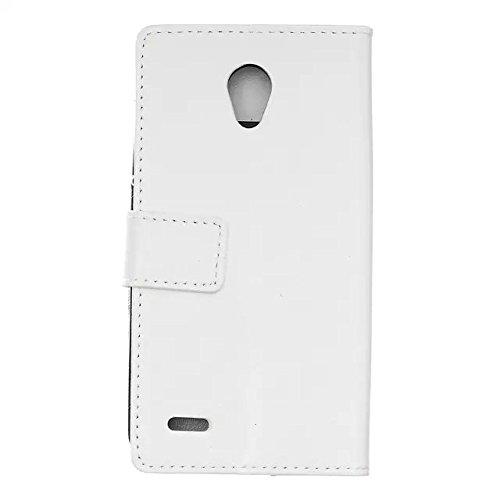 Solid Color Craze Pferd Textur Pattern Flip Stand Case Wallet Fall mit Karte Cash Slots für Alcatel Go spielen ( Color : Blue , Size : Alcatel Go Play ) White