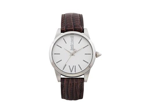 Just Cavalli Damen Analog-Digital Quarz Uhr mit Leder Armband JC1L010L0015