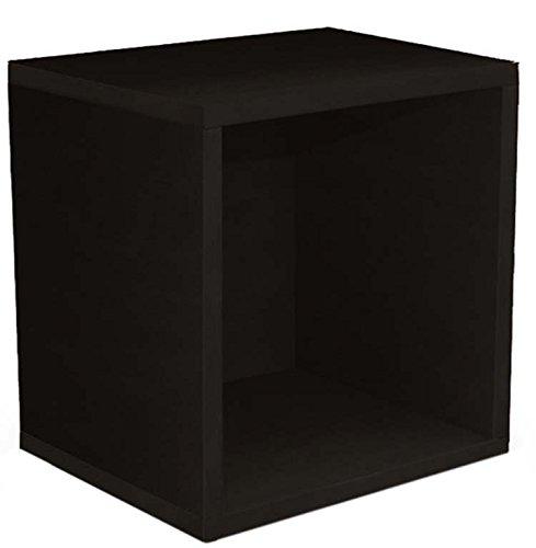 Etagère cube Standregal M73 coloris noir, Dim: L 33 x H 34 x P29 cm -PEGANE-