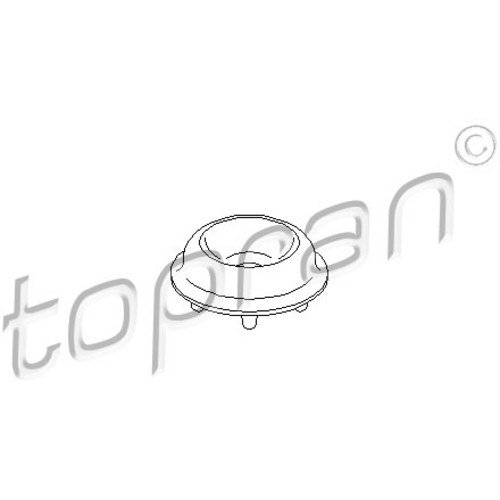Preisvergleich Produktbild TOPRAN 107 664 Federbeinstützlager