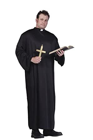 Costumes RG 85005 Priest Deluxe Costume - Plus Size