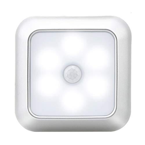 ToDIDAF Nachtlicht mit Bewegungsmelder Smart-Lampe Quadratische Schrankleuchte Outdoor Innenbeleuchtung Für Camping Kleiderschrank Wohnzimmer Schlafzimmer Kinderzimmer Badezimmer (1PC, Weiß)