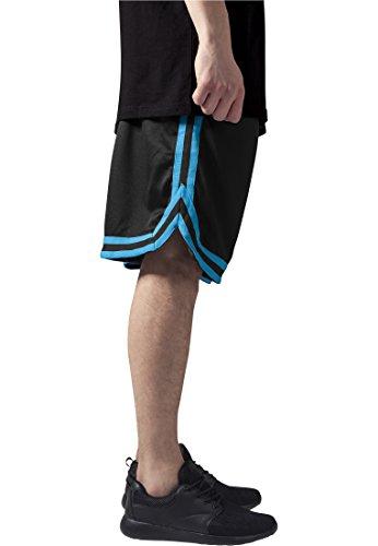Urban Classics TB243 Herren Shorts Stripes Mesh blkturblk