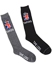 Doctor Who Tardis Time Lord Crew Socks 2 Pack