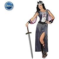 Atosa Disfraz de Soldado Medieval para mujer, Color Gris/Lila, 42/44 (Talla del fabricante: XL)