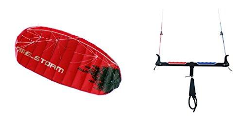 maelstorm evolución 3m kitesurf Trainer Barra de cometa de aluminio con cometa de alimentación 9–18M ajustable Flying líneas pollo Loop Cierre de seguridad bolsa