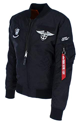 Alpha Industries - MA-1 TT Patch SF Herren Bomberjacke, Größe:XL, Farben:Black