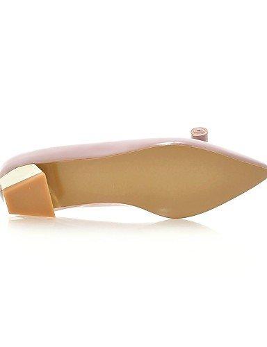 ZQ Damenschuhe - High Heels - L?ssig - Kunstleder - Niedriger Absatz - Abs?tze - Rosa / Silber / Grau gray-us8.5 / eu39 / uk6.5 / cn40
