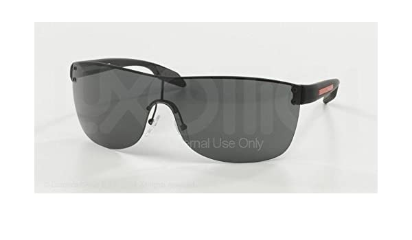 2d5aa848b2f Prada Sport 54PS 1BO1A1 Black 54Ps Wrap Sunglasses Lens Category 3 Lens  Mirrore  Amazon.co.uk  Clothing