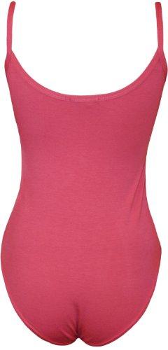 WearAll - Body débardeur top à sangles sans manches - Combinaisons - Femmes - Tailles 36 à 42 Cerise