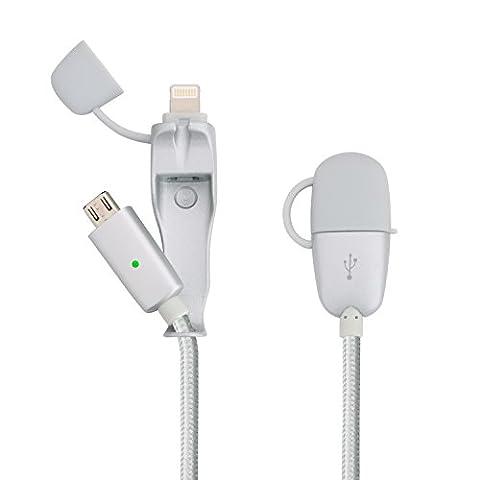 EliteSoft 2 in 1 USB Lightning Kabel 4.9ft Nylon umflochtenes