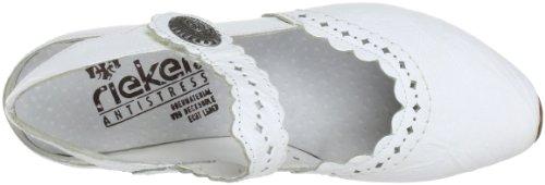 Rieker 43757-80, Scarpe col tacco donna Bianco (Weiß (weiss 80))