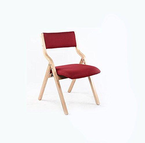 Chair QL Klappstühlen Haus einfache gebogene Holzklappstuhl einfache Schlafsaal Klappstuhl zurück / Computer Stuhl (Größe: 41,6 * 78,5 cm) restaurant Klappstühle ( Farbe : D )