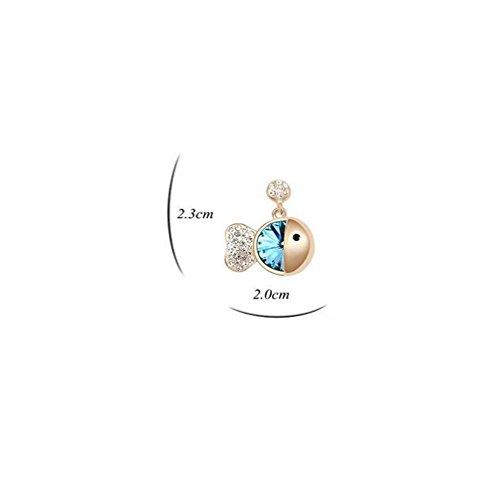 Erica Boucles d'oreilles plaqué or autrichienne Crystal Stud boucles d'oreilles cadeau parfait pour les femmes de mariage #1