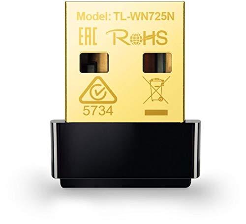 TP-Link TL-WN725N Nano WLAN USB Adapter (bis zu 150Mbit/s, Nano Größe, Soft AP, geeignet für Windows 10/8.x/Vista/7/XP) schwarz