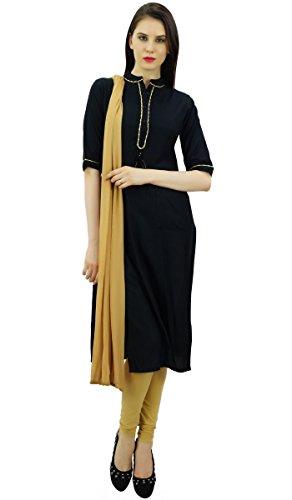 Atasi Frauen Schwarz Formale Salwaar Kameez Anzug mit Dupatta Indischen Kleidung-50 -