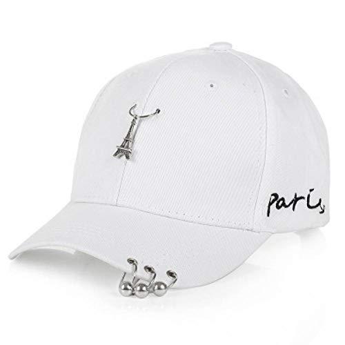 LQMGLP Herren Caps Mit Romantischen Paris Eiffelturm Frauen Baseball Cap Punk Nieten Ring - Paris Maler Kostüm