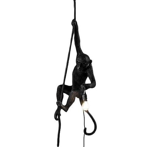 Seletti Monkey Lamp Black - Avec corde Noir