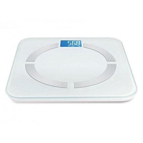 Báscula Body Fat, analizador de masa de grasa, color blanca con Bluetooth