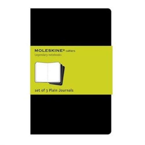 Notizheft Cahier in schwarz 9x14 cm 3 blanko 70g m² sw