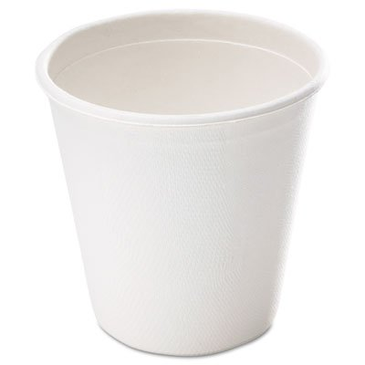 Bagasse Cup, 9oz, White, 50/Pack, Sold as 50 Each by Savannah Supplies Inc. Bagasse Cup