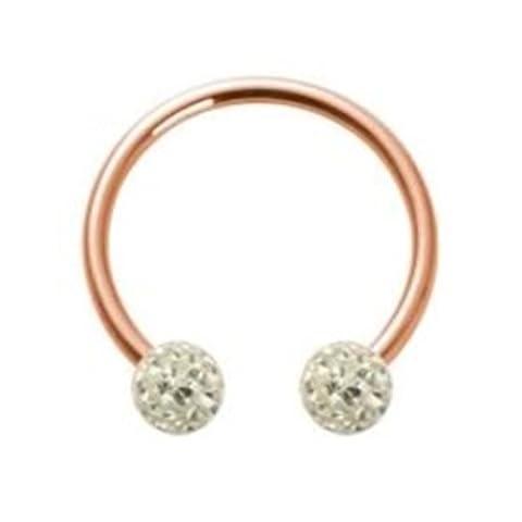 Rosegold Steel - CBR Circular Barbell (horseshoe) - Epoxy 1,6x10x4 LH