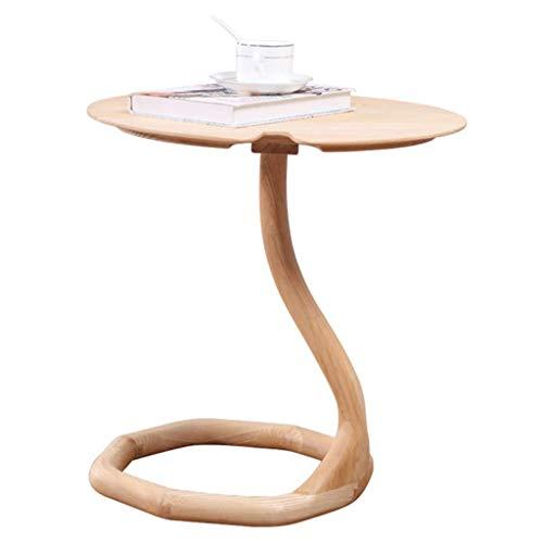 Oak Hall-möbel (BJYG Kleine Konsole Light Oak Finish | Massivholz Hall Side/End Telefontisch/Nachttisch, One Size)