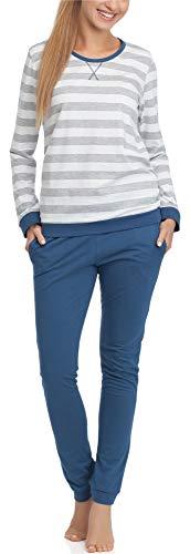 Cornette Damen Schlafanzug M4LL6 (Jeans, S) -