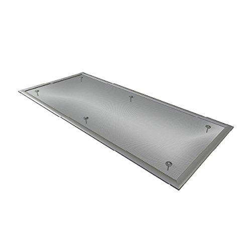 wip Alu-Lichtschachtabdeckung mit ALUMINIUM-Gewebe 115x50 inkl. Klammern für Kellerschacht Ungeziefergitter