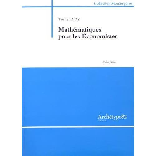 Mathématiques pour les économistes