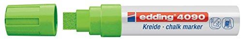edding 4090 Kreidemarker - Farbe: Hellgrün - Kreidestift / Fenstermarker - Beschriften von Fenster, Tafel und Glas - Feucht abwischbar (Grün-pumpen Helle)