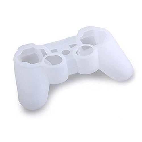 Lilyy High Quality Grip Soft Silicone Protective Skin Case Cover For Sony Playstation Ps3 Remote Controller White