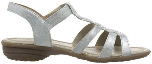 REMONTE - Damen Sandalen - Silber Schuhe in Übergrößen Silber