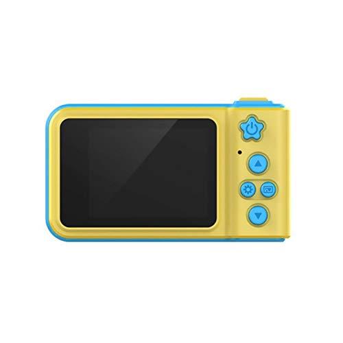 Goldyqin Sexta generación 2.0 Pulgadas Pantalla HD Niños Educativos Deportes fotografía Dibujos Animados Lindo Mini cámara de Fotos Digital Juguete de Regalo - Amarillo Azul