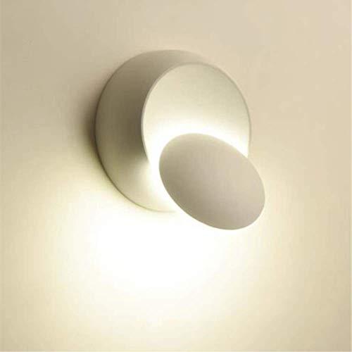 Lampada da Parete Moderna, Plafoniera Girevole a 360 Gradi, Lampade Creative Scale a Corridoio Rotondo, Adatto per Camere da Letto, Soggiorni, Ristoranti (bianca)