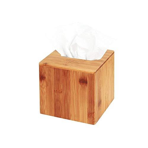 Jack Cube Design Bambus Platz Tissue Box Cover Halter Tasche Kleenex Cover Halter Box Serviettenhalter Organizer Stand (Set von 1, 14.4 X 14.4 X 14.4 CM) -MK273A
