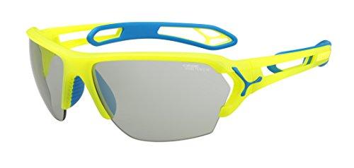 Cébé S'Track - Gafas de sol deportivas, color amarillo neón, talla