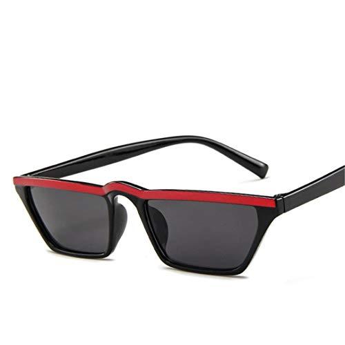DAIYSNAFDN Vintage Small Frame Sonnenbrillen Frauen/Männer Reisen Sonnenbrille Fahren Black Red