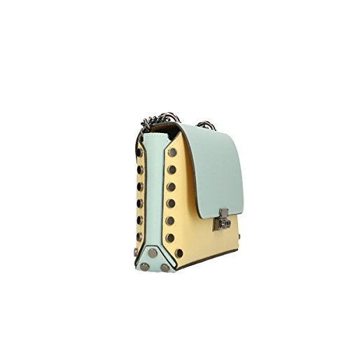 Estilo De La Moda Barata Chicca Borse Borsa a tracolla in pelle 27x16x5 100% Genuine Leather giallo-marina Ubicaciones De Los Centros Envío Libre dGt747l