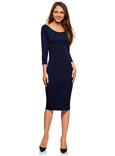 oodji Ultra Damen Kleid mit U-Boot-Ausschnitt (3er-Pack), Mehrfarbig, DE 38 / EU 40 / M
